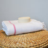 Classic Hammam _Large Cotton  Beach Towel _ white