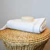 Classic Hammam _ Large Cotton  Beach Towel_ white