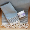 honeycomb_ Hammam Cotton Guest Bathroom Towel_  pale blue