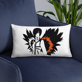 Anime on fire Basic Pillow