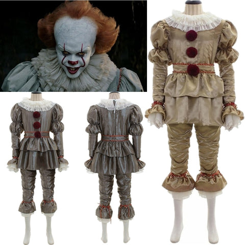 Pennywise Costume Clown Halloween Adult and Kids