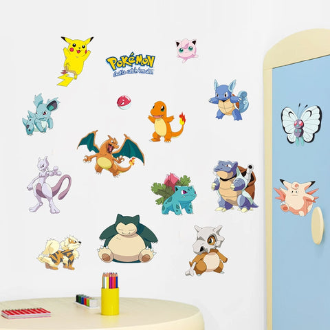 Pokemon Wall Stickers For Kids Rooms