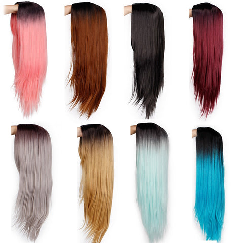 Ombre Straight Long Synthetic Wigs