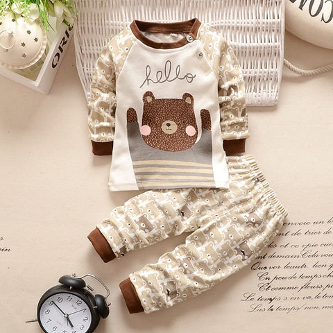 Cute T-shirt+Pants Baby Clothes