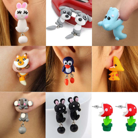 Cute 3D Animals Earrings