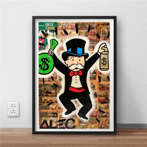 Monopolies Man With Money Bag Poster