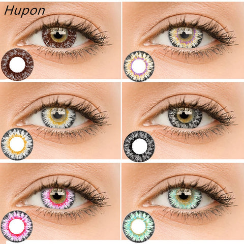 Multicolor contact lenses