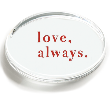 Love, Always Crystal Paperweight