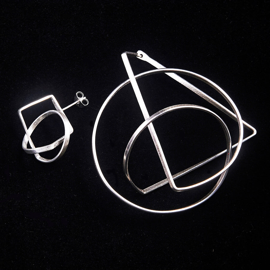 Mismatched Orbit Earrings
