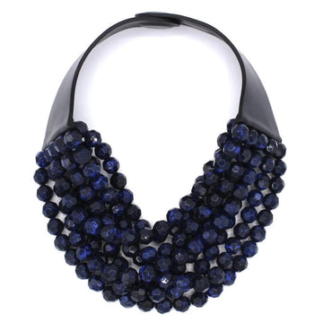 Navy Shimmer Bella Necklace