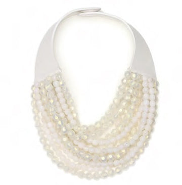 Marcella Pearlized White Necklace