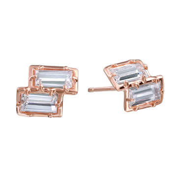 2-Step Rose Gold Stud Earring