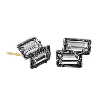 2-Step Sterling Silver Stud Earring