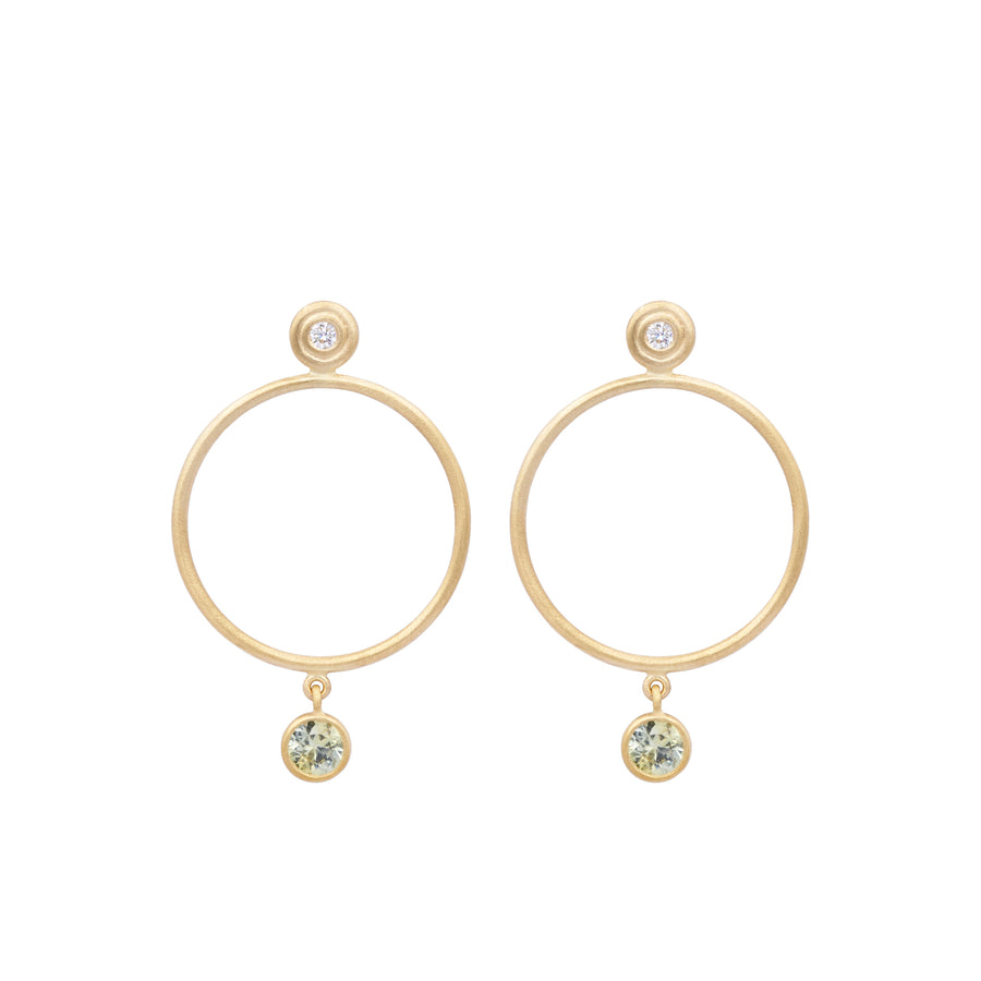 Yellow Sapphire Sliver Earrings