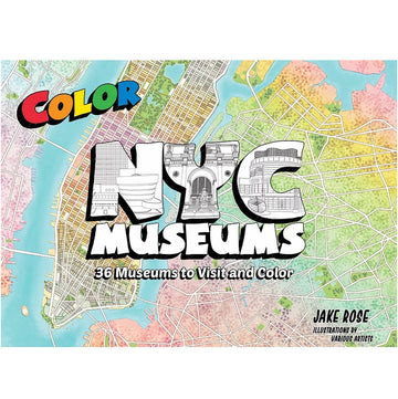 Color NYC Museums- 36 museums to visit and color coloring book