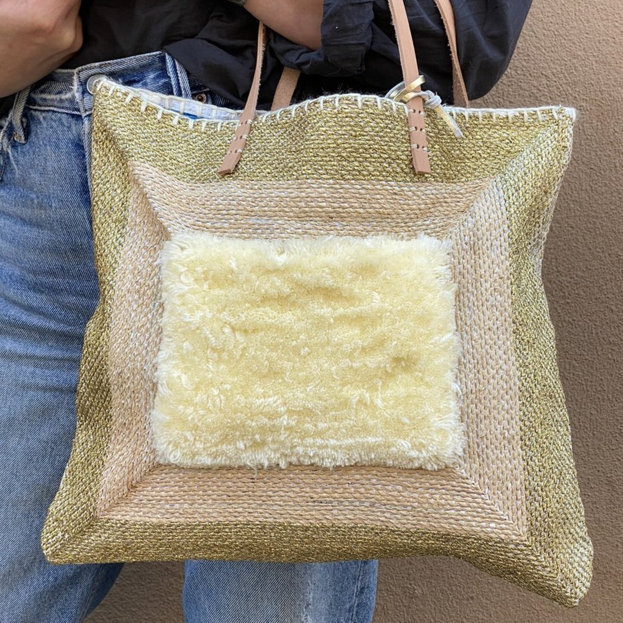 Recycled Tote- Gold