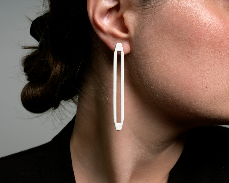Asymmetrical Long Link Post Earrings