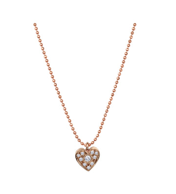 Amor Pave Charm Necklace