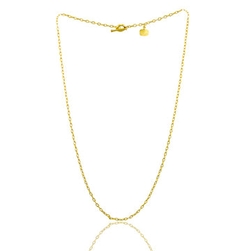 Medium Gold Rolo Chain 18