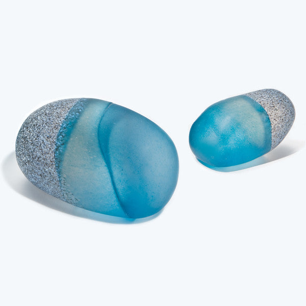 Blue Pebble Paperweight - Med/Lg
