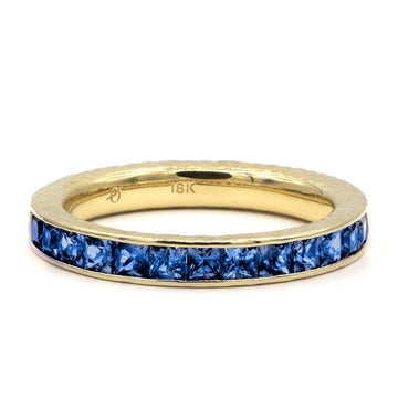 Blue Sapphire Ivy Eternity Ring