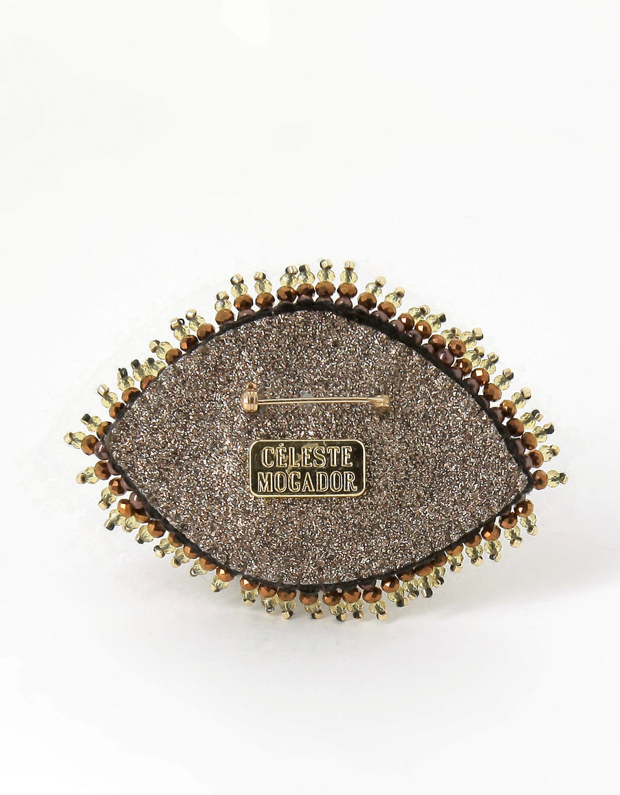 Brown Eye Brooch