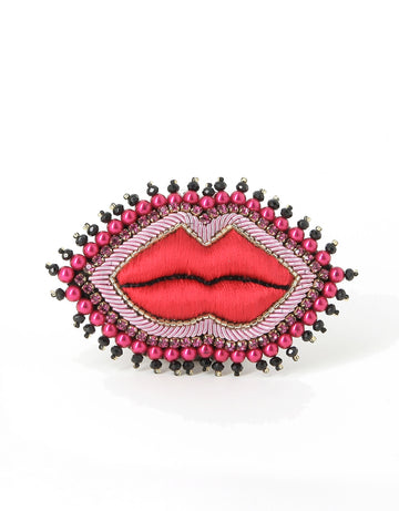 Red Lips Brooch