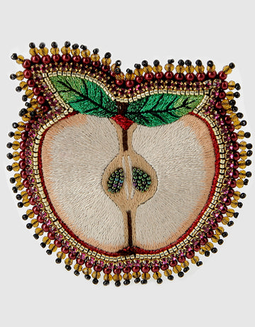 Cut Apple Brooch