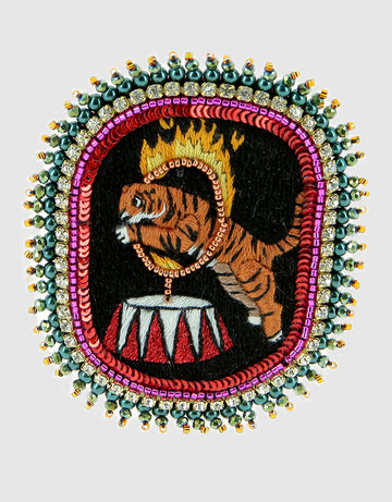 Fire Tiger Brooch