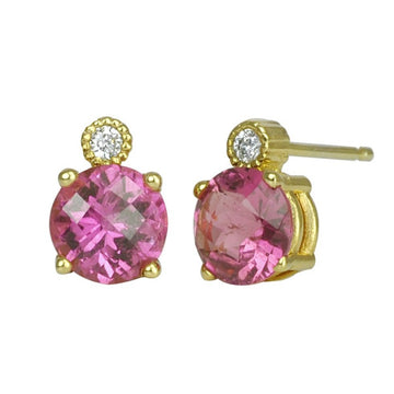 Candy Pink Tourmaline Earrings