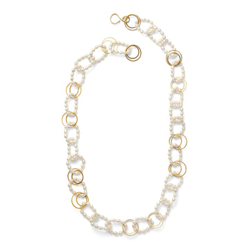 Open link pearl necklace