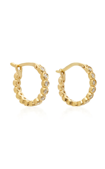 Petite Chloe Diamond Hoop Earrings