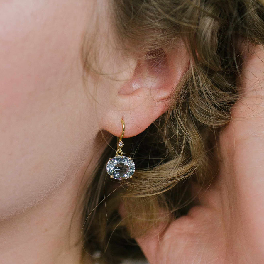 Cindy White Topaz Earrings