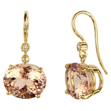 Cindy Morganite Earrings