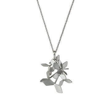 Sparkling Forest Ten Leaves Pendant Necklace