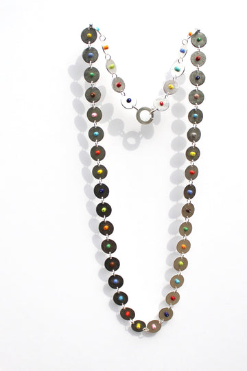 Multi-Color Disk Necklace