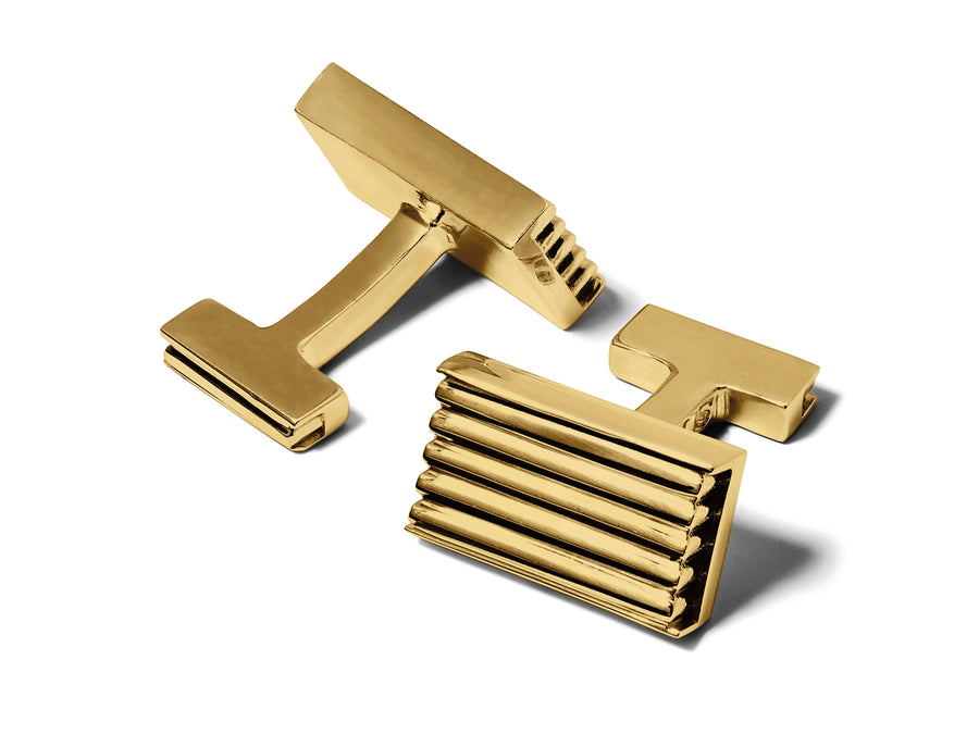 gold signature cufflinks