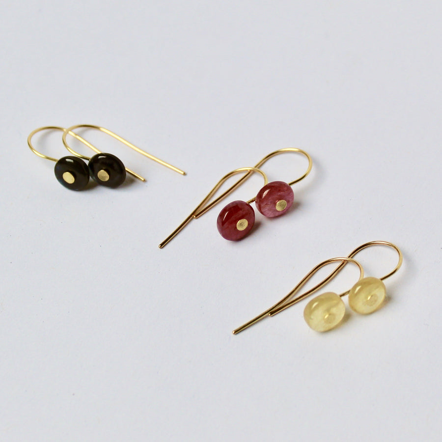 Simple Sapphire Bead Earrings