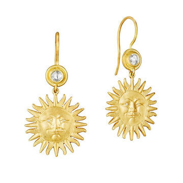 Sunface French Wire Earrings