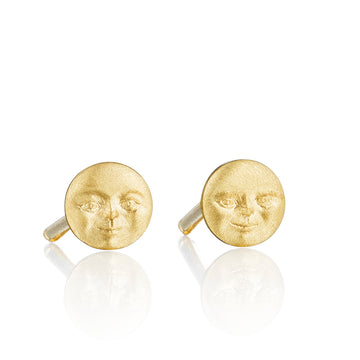 Invisible Moonface Stud Earrings