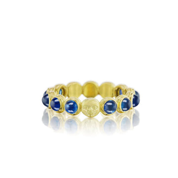 Celestial Sapphire Cabochon Bead Ring