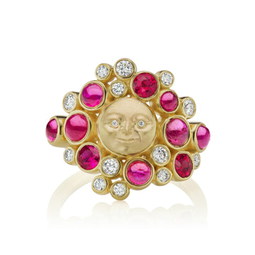 Moonface Large Cluster Ring