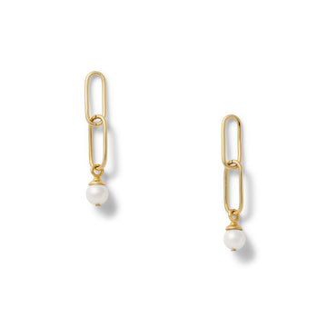 Double Link paperclip earring