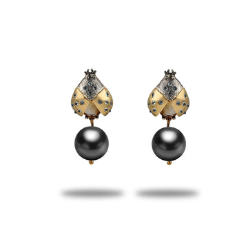 Coccinelle Tahitian Pearl Drop Earrings
