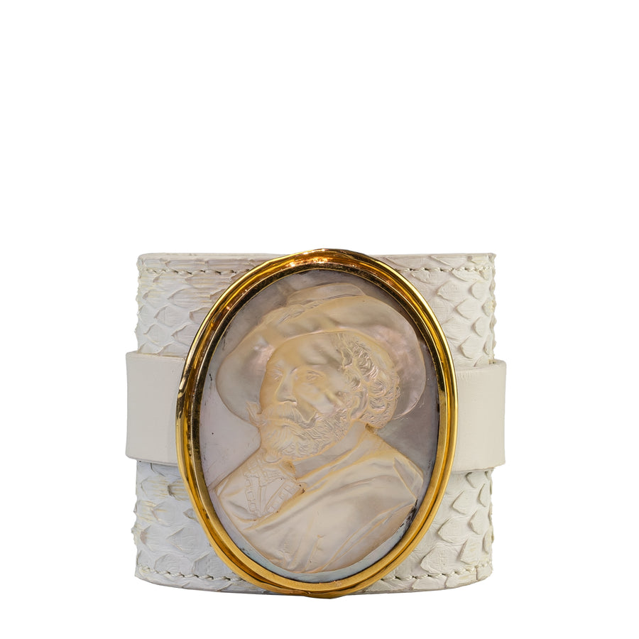 Mother of Pearl Man Cameo Bracelet
