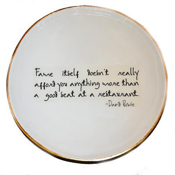 David Bowie Quote Serving Plate