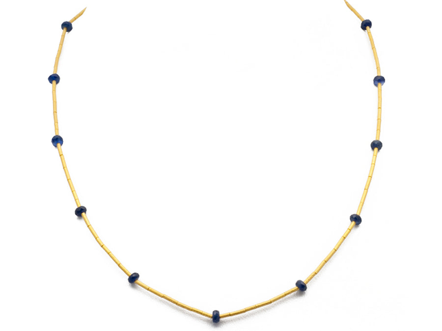 Rain Single Strand Sapphire Necklace