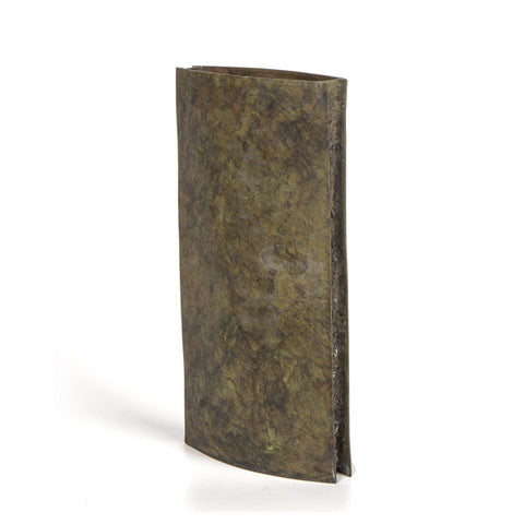 "12"" Slab Vase - Black Ochre"