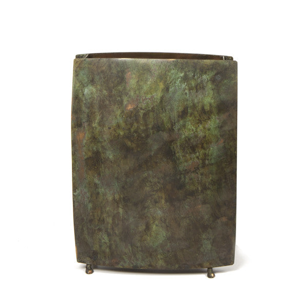 "10.25"" Square Vase - Black Ochre"
