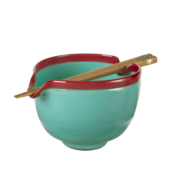 Glass Noodle Bowl - Turq Blue